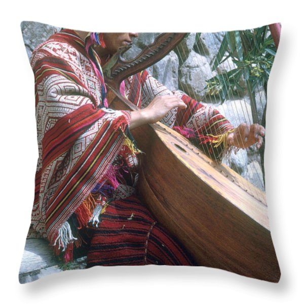 Lute Player Throw Pillow by Photo Researchers, Inc.