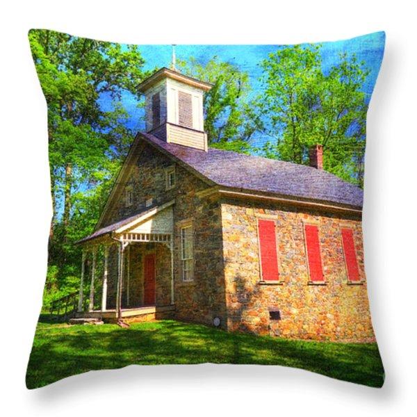 Lutz-Franklin Schoolhouse Throw Pillow by Paul Ward