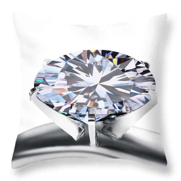 Luxury Wedding Ring  Throw Pillow by Setsiri Silapasuwanchai