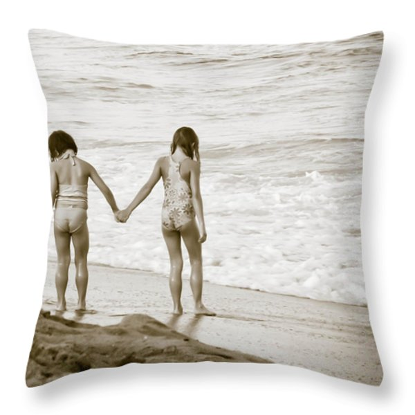 M Is For Memories Throw Pillow by Trish Tritz