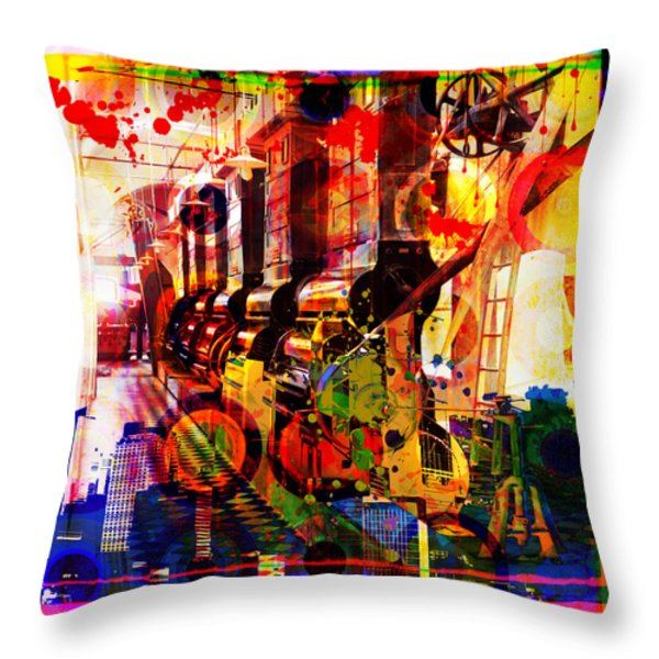 Machine Age-1 Throw Pillow by Gary Grayson