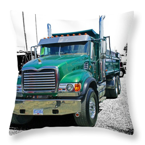 Mack Abstract Throw Pillow by Randy Harris