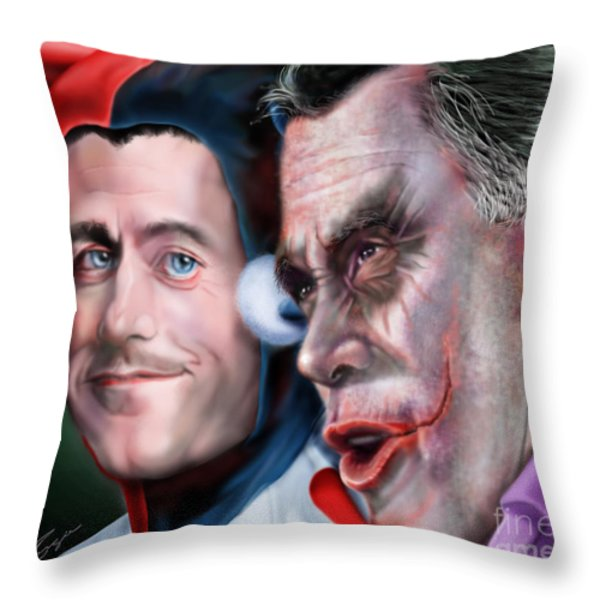 Mad Men Series  4 Of 6 - Romney And Ryan Throw Pillow by Reggie Duffie
