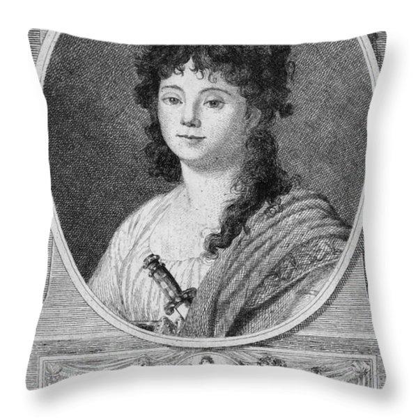 Mademoiselle Maillard Throw Pillow by Granger