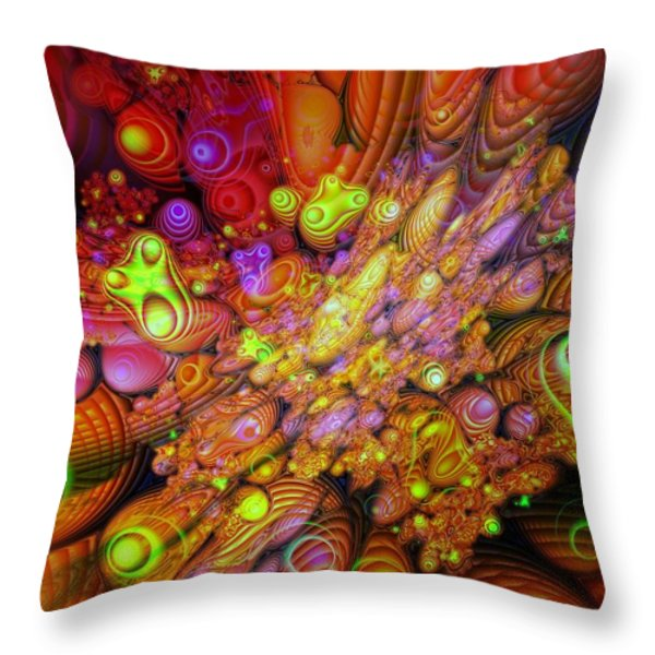 Maelstrom Of Emotion Throw Pillow by Mimulux patricia no