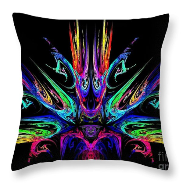 Magic Fire Throw Pillow by Klara Acel
