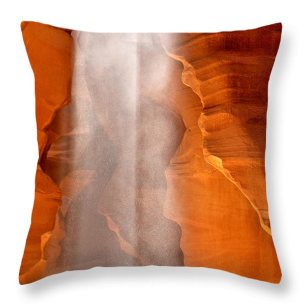 Magical Beams Of Light - Antelope Canyon Arizona Throw Pillow by Christine Till
