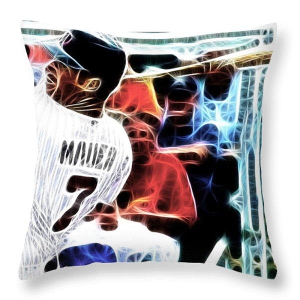 Magical Joe Mauer Throw Pillow by Paul Van Scott