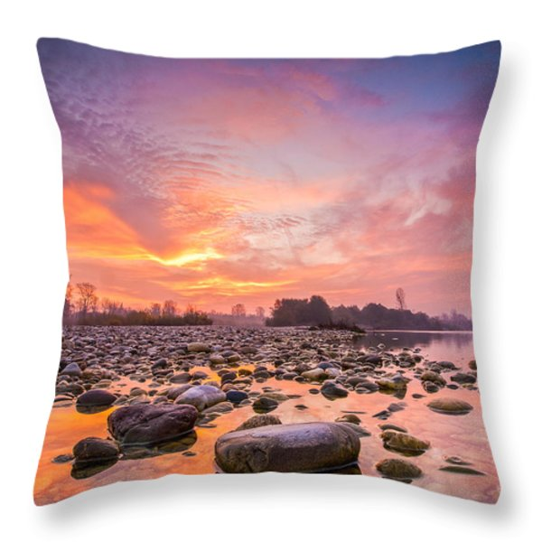 Magical Morning Throw Pillow by Davorin Mance