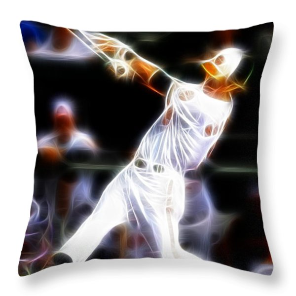 Magical Oriole Throw Pillow by Paul Van Scott