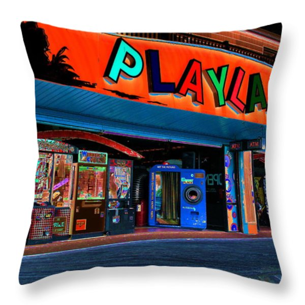 Magical Playland Throw Pillow by Francie Davis