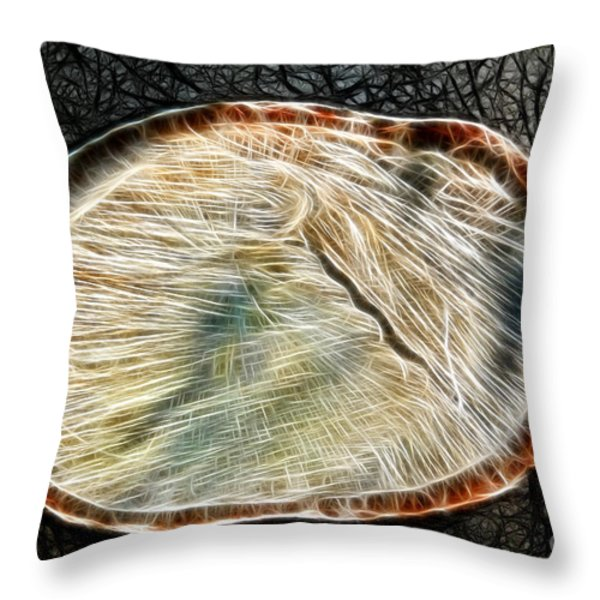 Magical Tree Stump Throw Pillow by Mariola Bitner