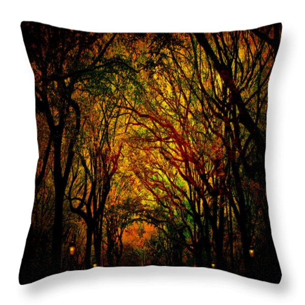 Magick Mall Throw Pillow by Chris Lord