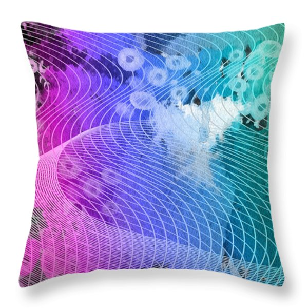 Magnification 6 Throw Pillow by Angelina Vick