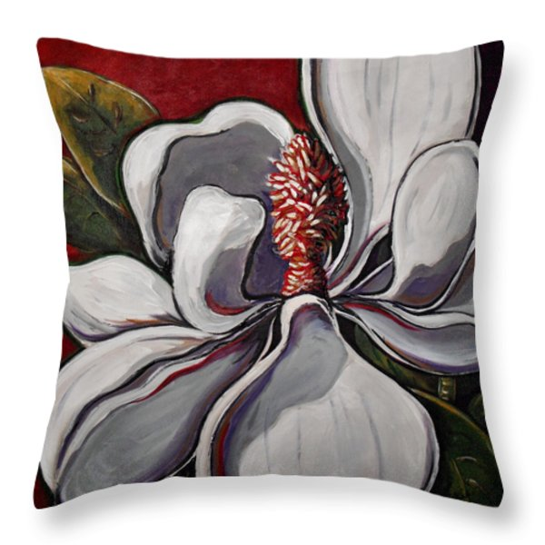 Magnolia Grand Throw Pillow by Vickie Warner