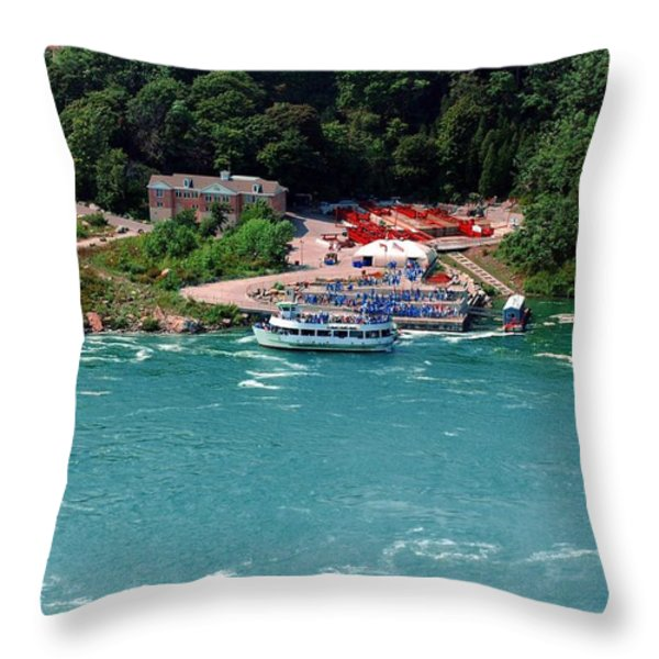 Maid Of The Mist Throw Pillow by Kathleen Struckle