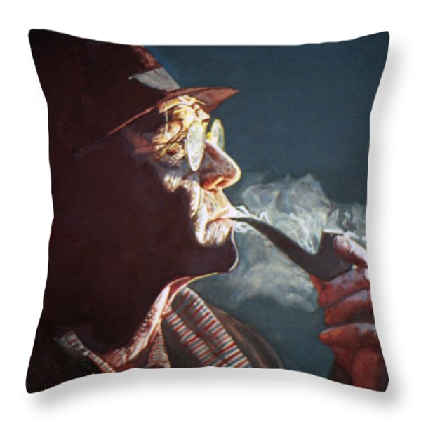 Maigret Throw Pillow by Michael Haslam
