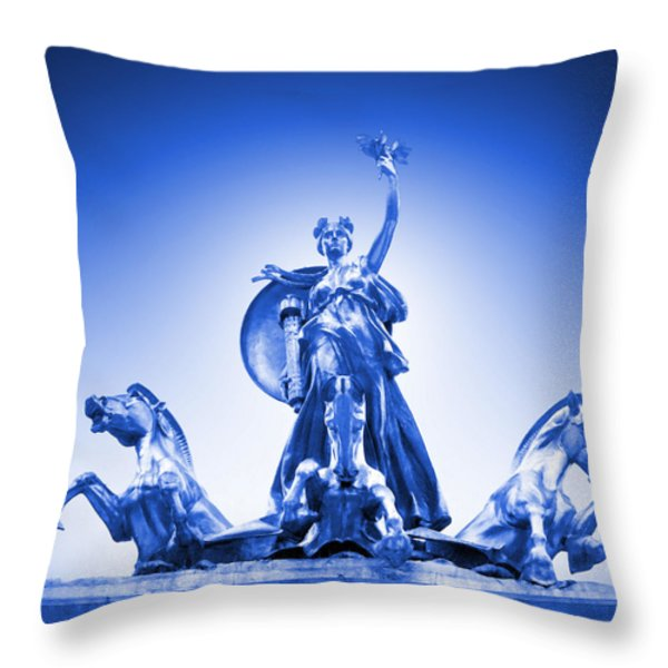 Maine Monument  In Blue Throw Pillow by Mike McGlothlen