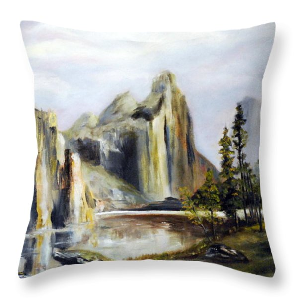 Majestic Mountains Throw Pillow by Phil Burton