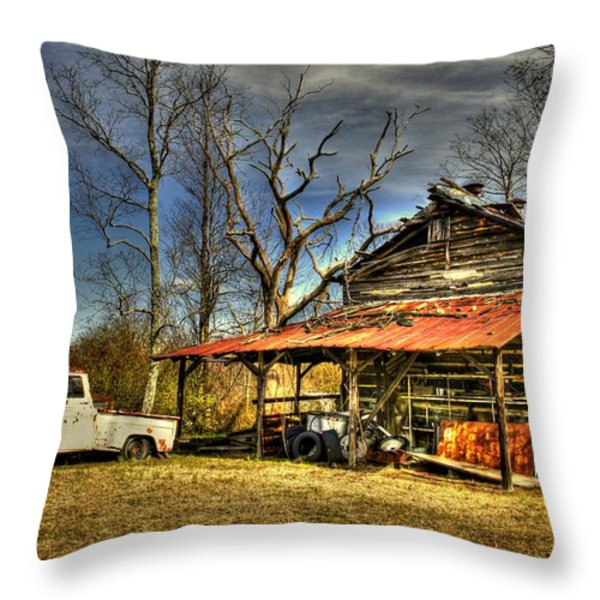 Makes Me Wanna Take A Back Road Throw Pillow by Benanne Stiens
