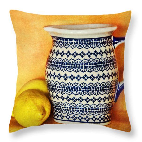 Making Lemonade Throw Pillow by Tammy Wetzel