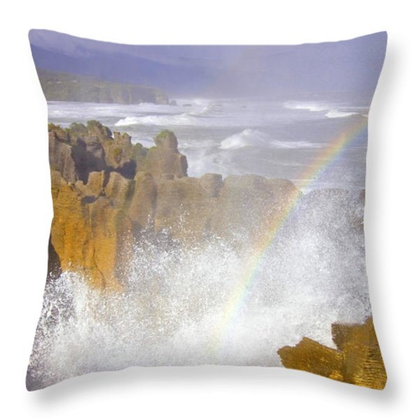 Making Miracles Throw Pillow by Mike  Dawson