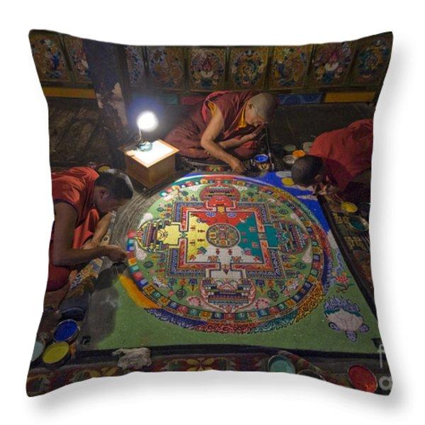 Making Of Mandala Throw Pillow by Hitendra SINKAR