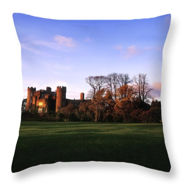 Malahide Castle, Co Fingal, Ireland Throw Pillow by The Irish Image Collection