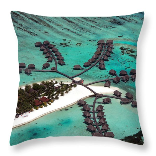 Maldives aerial Throw Pillow by Jane Rix