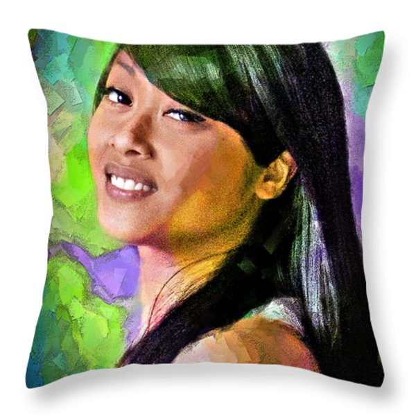 Mallory Throw Pillow by Chuck Staley