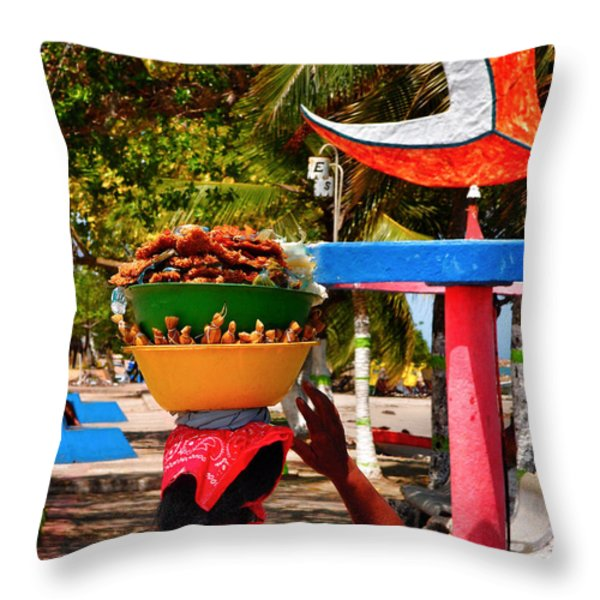 Mama Coco Throw Pillow by Skip Hunt