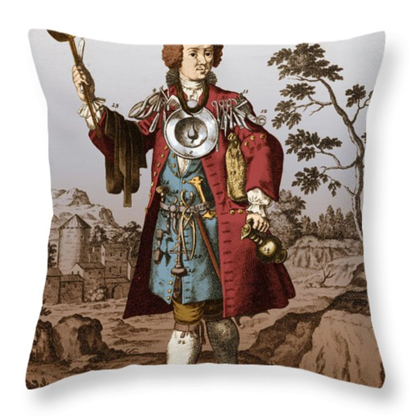 Man With Surgical Equipment Throw Pillow by Science Source