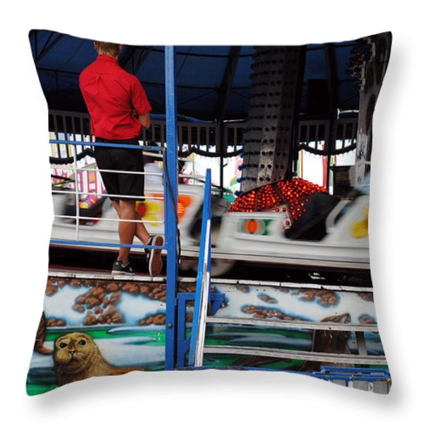 MANAGEMENT Throw Pillow by Skip Willits