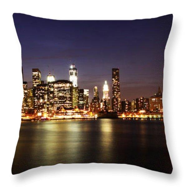 Manhattan Panorama Throw Pillow by Andrew Paranavitana