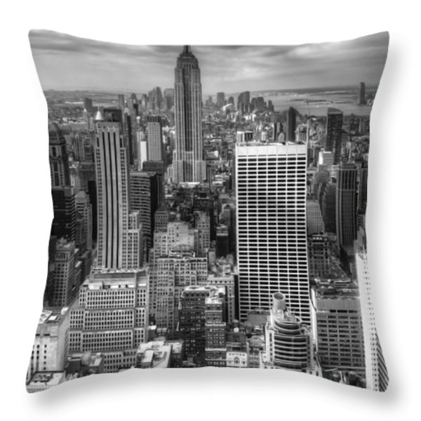 Manhattan01 Throw Pillow by Svetlana Sewell