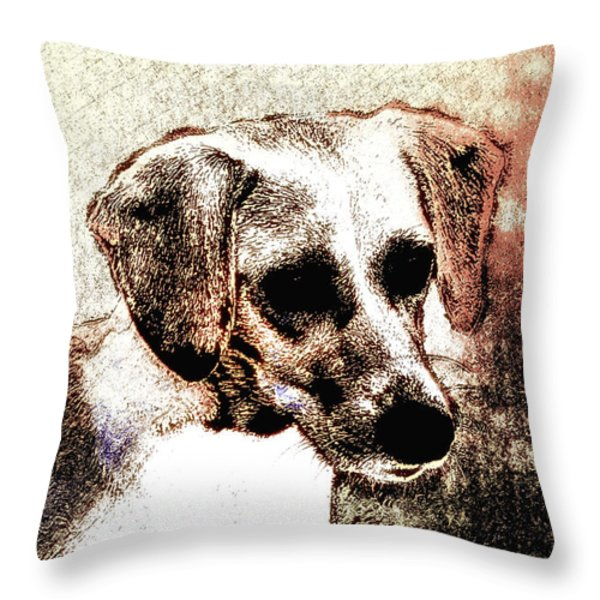 Mans Best Freind Throw Pillow by Bill Cannon