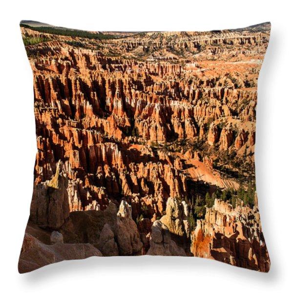 Many Hoodoos Throw Pillow by Robert Bales