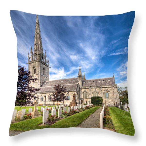Marble Church Throw Pillow by Adrian Evans