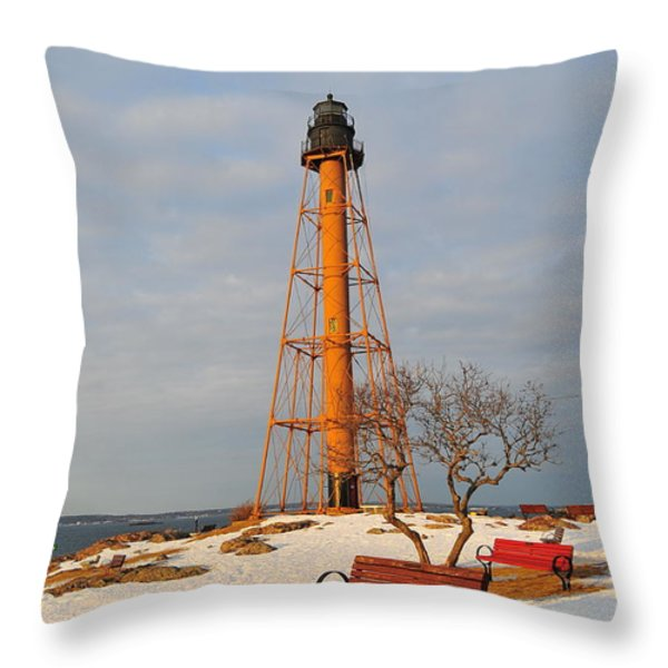 Marblehead Light Throw Pillow by Catherine Reusch  Daley