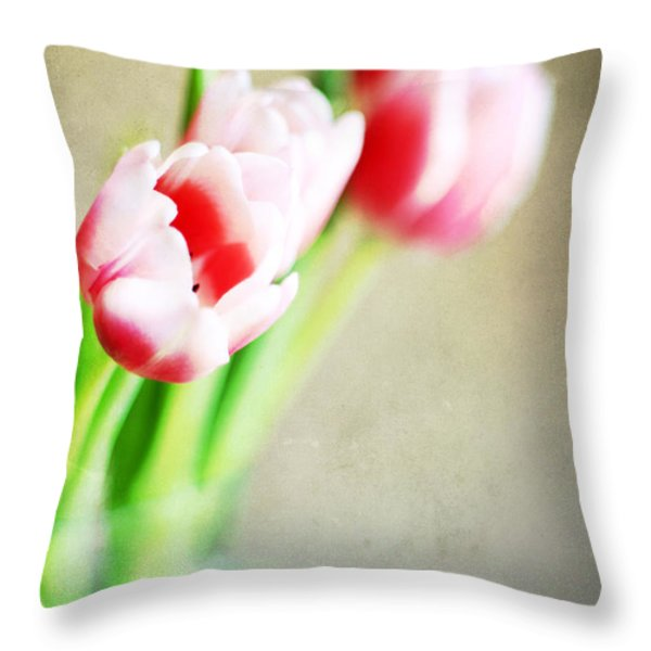 March Tulips Throw Pillow by Darren Fisher