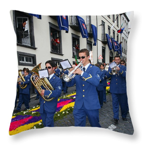 Marching Band Throw Pillow by Gaspar Avila