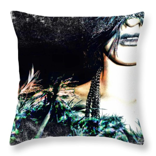 Mardi Gra Throw Pillow by Tisha McGee
