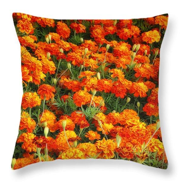 Marigold Throw Pillow by Jutta Maria Pusl