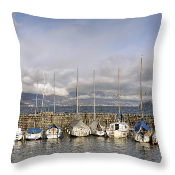 Marina Cannobio Throw Pillow by Joana Kruse
