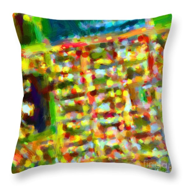 Marina District - San Francisco California Usa - Abstract - Painterly Throw Pillow by Wingsdomain Art and Photography
