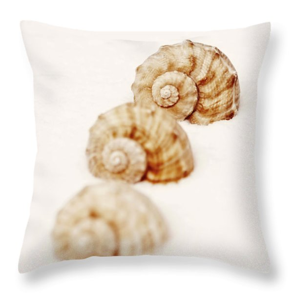 marine snails Throw Pillow by Joana Kruse