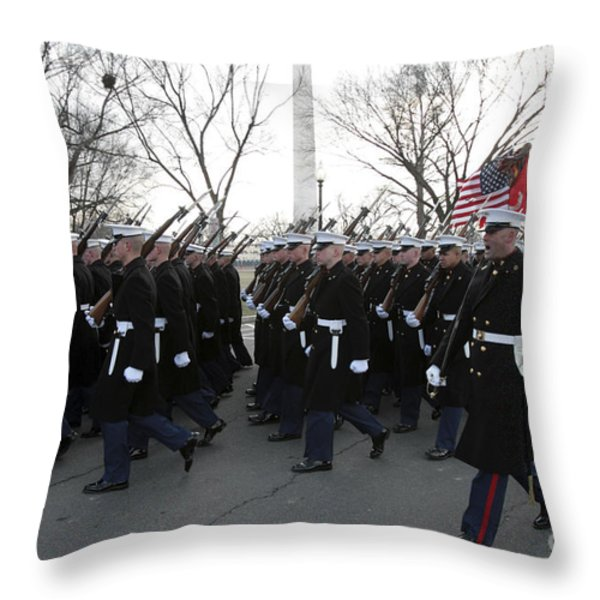Marines Participate In The 2009 Throw Pillow by Stocktrek Images