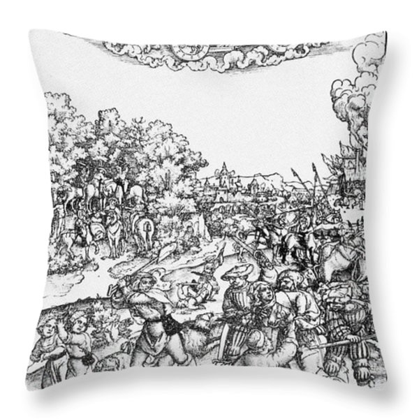 Mars, Roman God Of War Throw Pillow by Photo Researchers