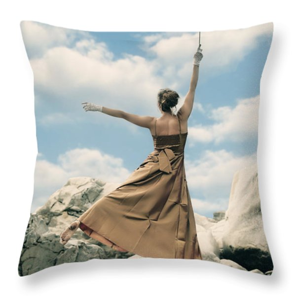 Mary Poppins Throw Pillow by Joana Kruse