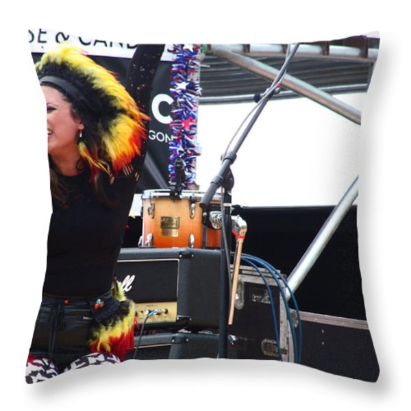 Maryjane Sings Loud And Proud Throw Pillow by Kym Backland